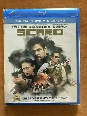 Sicario (Blu-ray/DVD, 2016, 2-Disc Set)
