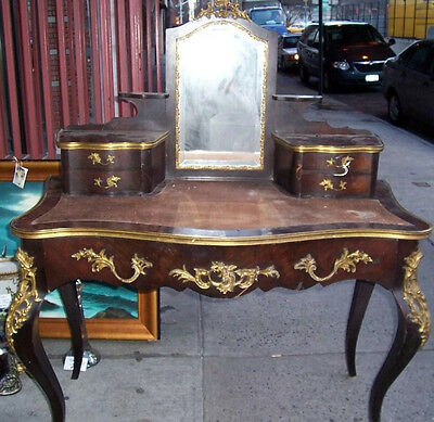 Reduced!$8500 Lovely French Art Deco Mahogany Ladies Vanity Writing Desk C1920