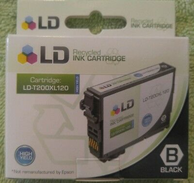 Recycled Ink Cartridge Black LD-T200XL120-Works w/Various Epson Models. Expired