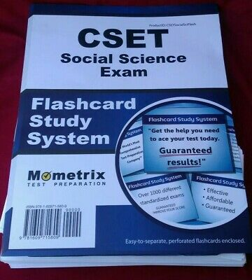 CSET SOCIAL SCIENCE Exam Flashcard Study System - $43 99