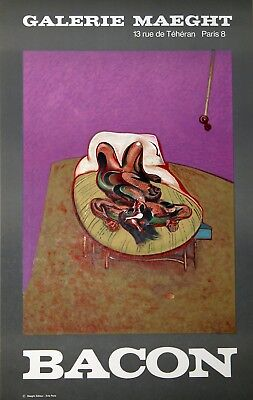"Francis Bacon ""BACON, Personnage Couche"" Galerie Maeght Poster"