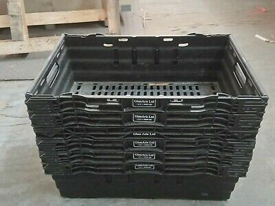 Bale Arm Crates / Bale Arm Plastic Stacking Boxes x 6