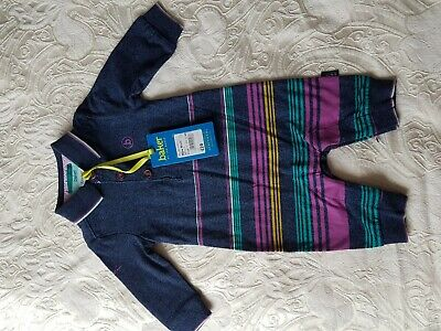 New With Tag Ted baker Baby Boy Stripe Romper Age New Born