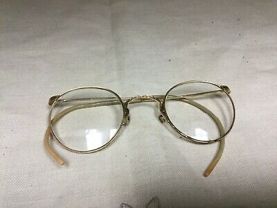 Art Deco 1940's Aircraft Nokorod 1/10 12K GF Wire Rim glasses Harry Truman Style
