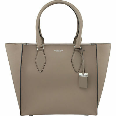 a8681e90afad NWT $1290 MICHAEL KORS COLLECTION Gracie Large Satchel Handbag Dk Taupe  Italy