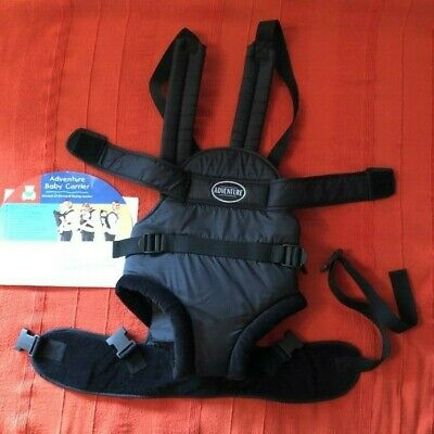 76d3a95c943 Bruin Adventure Baby Carrier Black Soft Velour Trim - 2 Way - Birth to 12  Months