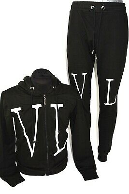 Bnwt Valentino  Black Tracksuit Sweater+ Pants Sports  Wear All Sizes