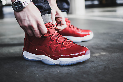 17997af2491020 NIKE AIR JORDAN XI 11 WIN LIKE 96 GYM RED SIZE 10 NEW concord space ...