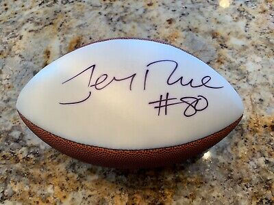 f7bf653c716 49ERS JERRY RICE Authentic Signed Wilson NFL Football MZS hologram ...