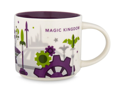 Disney Parks Starbucks You Are Here Magic Kingdom Tomorrowland Mug YAH Purple