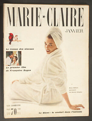 'marie-Claire' French Vintage Magazine Dawn Addams Cover January 1958