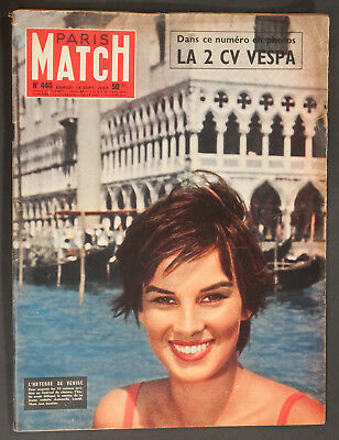 'paris-Match' French Vintage Magazine Antonella Lualdi Cover 14 September 1957