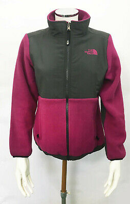 Girls The North Face Zip-Up Fleece - Pink & Grey - Large (14/16 Years) (JK01)