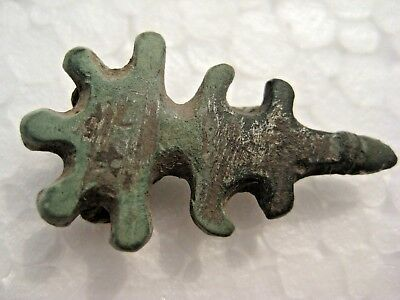 Genuine ANCIENT GOTHIC BRONZE FIBULA BROOCH ORIGINAL 5-6 century AD