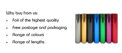 Hot foil on card ideal for embossing, stamping, blocking, high quality