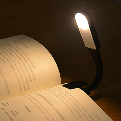 Led Magnetic Book Bedroom Flexible Travel USB Clip Rechargeable Lamp 3 Mode