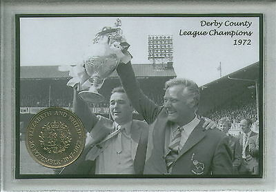 Derby County Vintage Brian Clough League Champions Retro Coin Fan Gift Set 1972