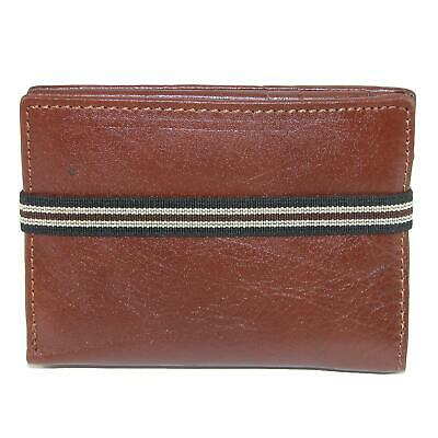 New CTM Men's Leather Bifold Wallet with Exterior Elastic Band