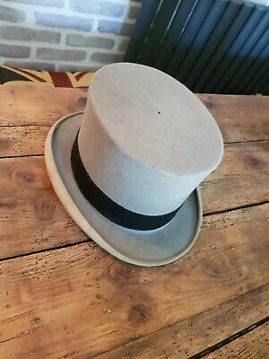Antique Grey Felt Top Hat by Scott & Co C1920