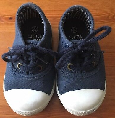 Boys Debenhams Blue Zoo Shoes Infants Size 9 in Black Good Condition
