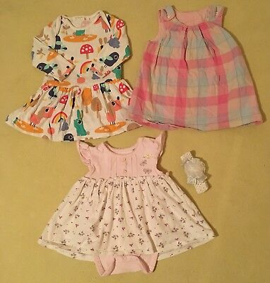 3-6 months Baby Girls Dress With Matching Hairband, Next ,Mothercare GC To EC