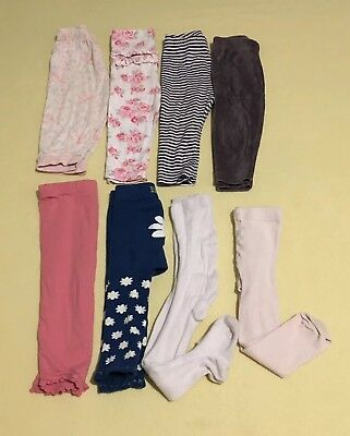 9-12 months girls Leggings,Trousers,tight Bundle 8 pice GC Next,H&M,George
