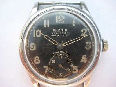 Military Wristwatch German Army Phenix WWII