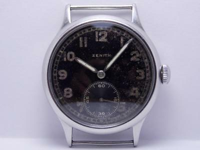 Old Military Second World War WWII Men's Wristwatch ZENITH DH 1942's