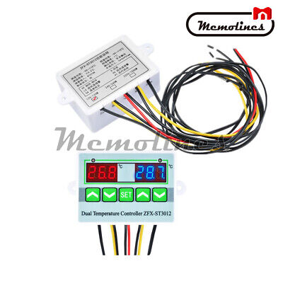 Red +Blue LED Digital ST3012 12V Temperature Controller Microcomputer Thermostat