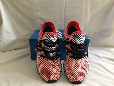 2cf0d34a9 adidas DEERUPT Runner Shoes Men s Size 8- Red Blue White Black CQ2624