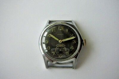 WW II  WW 2 Military Wristwatch German Army MOERIS DH
