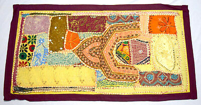 Brilliant Vintage colorful indian culture wall curtain fabric décor. i17-85 US