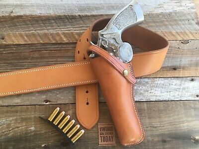 Charles Bluemel El Paso Texas Brown Leather Large Revolver Holster Fits Colt