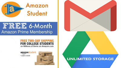 Student Account Free 6 Months Amazon Prime Video Office Unlimited Google Drive
