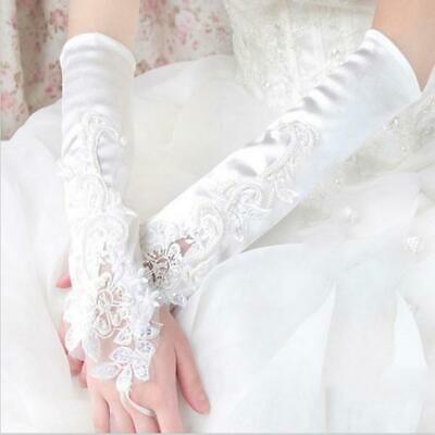 BNIP Long Satin Wedding gloves