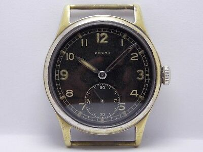 WWII WW2 1944 Military Wristwatch German Army Zenith DH