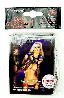 50 Ct Ultra Pro Deck Protector Card Sleeves Deadly Temptation Standard Size L2