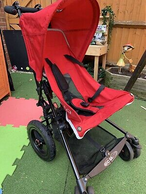 Micralite superlite pushchair buggy - Red With Rain Cover And Foot Warmer.