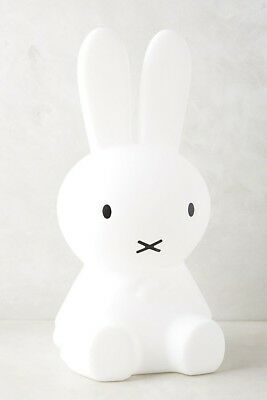 Anthropologie Mr. Maria Miffy White Bunny Rabbit Lamp LED Childrens Night Light