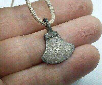 Rare Perfect Ancient Silver Pendant AXE Amulet Suspension Viking 9-11 A.D #449