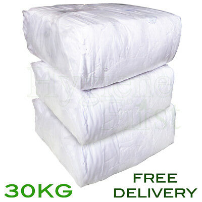 30Kg White Sheet 100% Cotton wipers rags polishing engineers wiping cloths