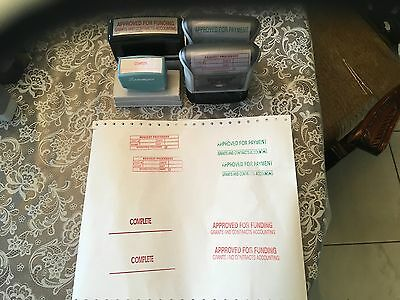Self Inking  Stamp   Lot Sale of 3 and one none self inking