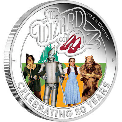 2019 The Wizard Of Oz 80th Anniversary 1oz Silver Proof Coin