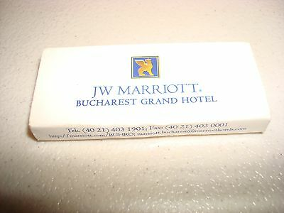 Rare Vintage Foreign Matches Match Box JW Marriott Bucharest Grand Hotel Romania
