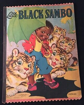 Helen BANNERMAN / Little Black Sambo SIGNED BY ILLUSTRATOR ETHEL HAYS 1st 1942