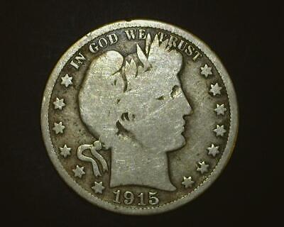 1915-D Barber Half-Dollar   Good-Plus      6~395077-Lb6Ra15