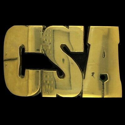 CSA Confederate State Calvary South Southern Army Civil War Brass Belt Buckle