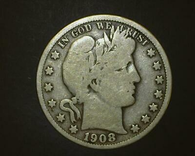 1908 Barber Half-Dollar   Very Good    ~394994-Lb6Ra15