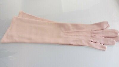 vintage mushroom elbow length gloves size 7 by simplex Italy