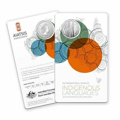 2019 50 Cent  INTERNATIONAL YEAR of INDIGENOUS LANGUAGES -FROSTED UNCIRCULATED